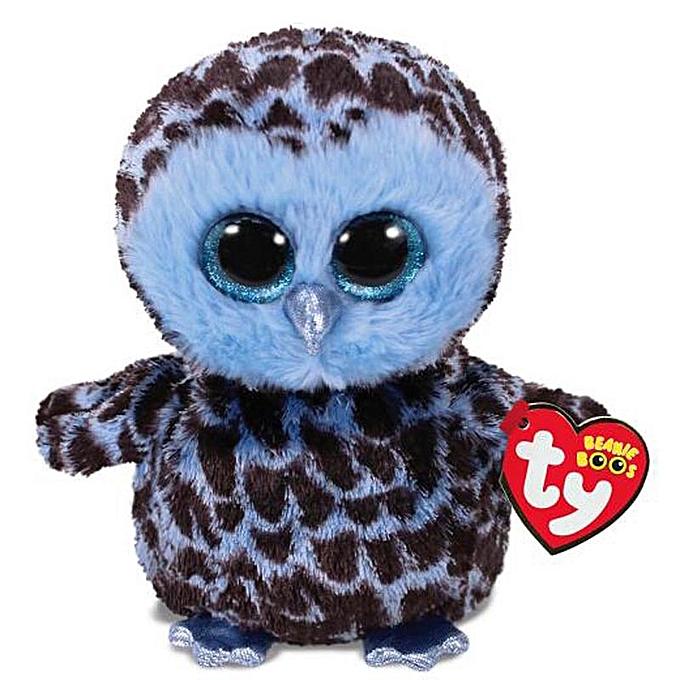 Autre Ty Beanie Boos Cute Owl Monkey Unicorn Plush Toy Doll Stuffed & Plush Animals 6  15cm(bleu noir Owl) à prix pas cher