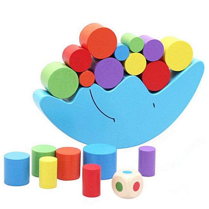 Generic bois Building Blocks Set Moon   Beam Toys   Education à prix pas cher