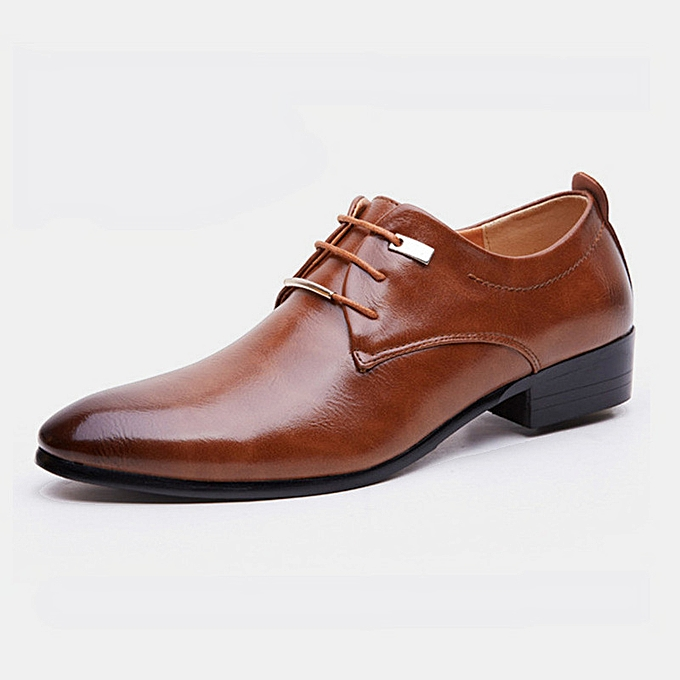 Fashion Men's leather chaussures British retro pointed male trend Couleur bright leather business wedding chaussures cross-border hommes chaussures-marron à prix pas cher    Jumia Maroc