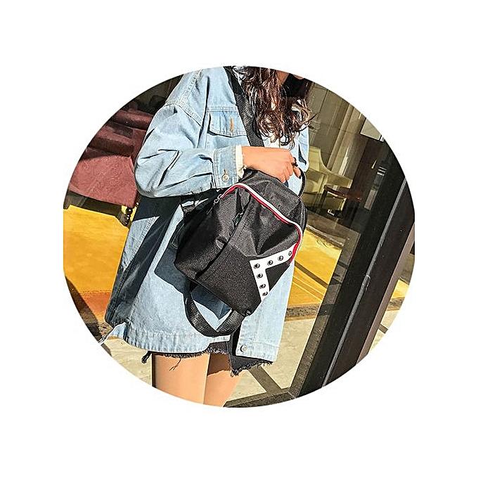 mode SingedanBook sac College Shoulder sac à doss Student School Oxford Cloth sac à dos -noir à prix pas cher