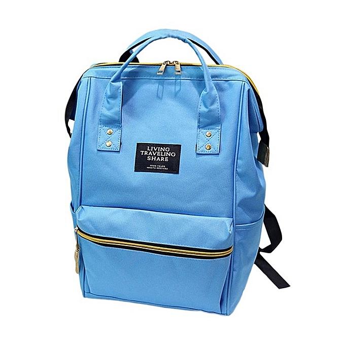 Generic UJ Girls Décontracté Harajuku Style sac à dos Tote voyage School sacs For Teenagers-rose bleu à prix pas cher