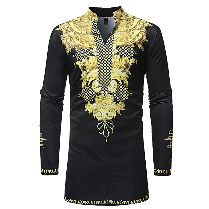 Other Stylish African Style Men Plus Taille Leisure Printed Shirt à prix pas cher