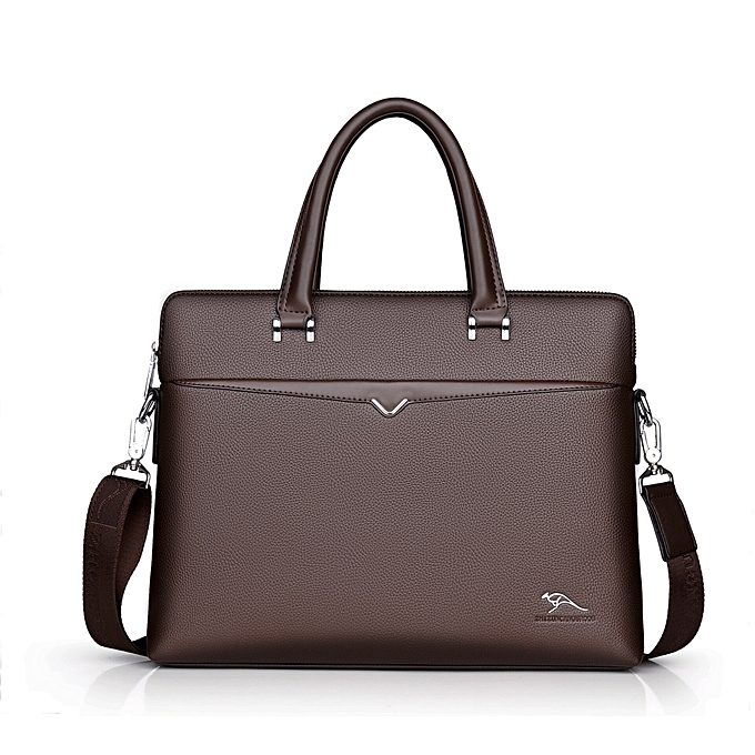 Other nouveau Luxury cuir Affaires Hommes's Briefcase Lager Male mode Shoulder sac Hommes Messenger sac Boy Décontracté Tote Computer sac(marron) à prix pas cher