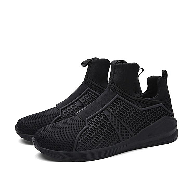 Fashion New Fashion Men's Casual Running chaussures Sports Breathable High Top baskets Flats noir-EU à prix pas cher