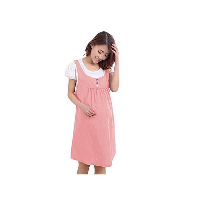 mode Xiuxingzi_été Maternity Robe Clothes For Pregnant Pregnancy Denim Clothing PK XL à prix pas cher