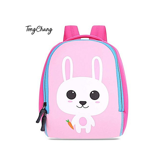 Generic Minicar Bunny TongChang Cute Cartoon Zipper Closure Mini Backpack for Kids à prix pas cher