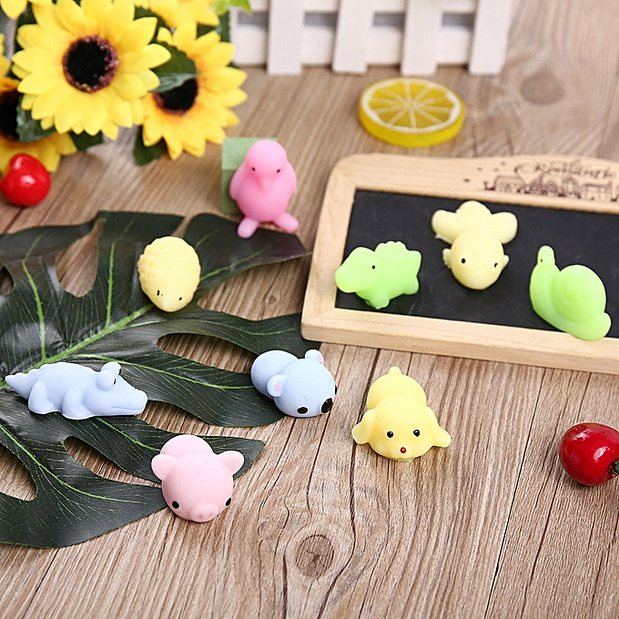 Generic 30PC Mini Animals Squeeze drôle Toy Soft Stress And Anxiety Relief Toys  Decor à prix pas cher