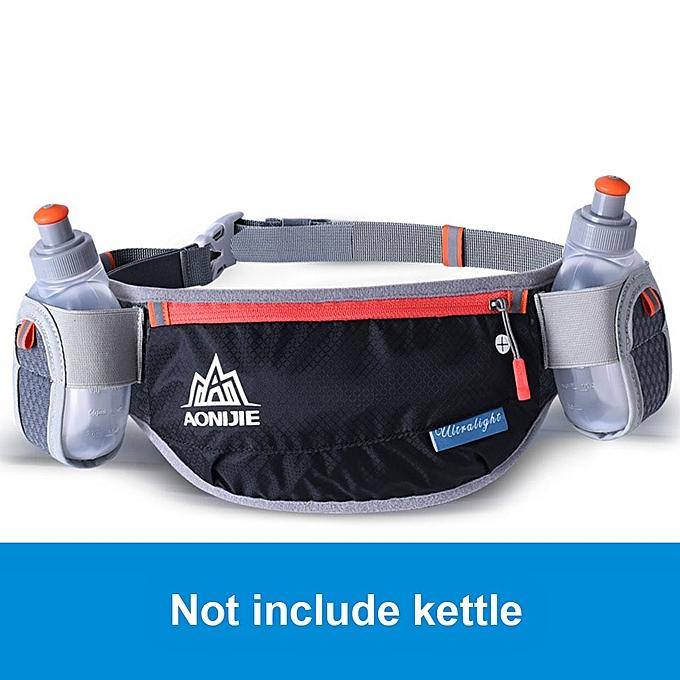 AONIJIE Running Hydration Belts Bottle Holder Belt Reflective Running Water Belt Fanny Pack Men femmes Waist Packs(noir without kettle) à prix pas cher