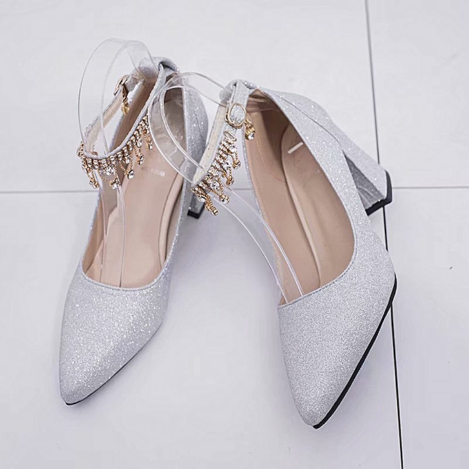 Générique Sedectres Fashion Fashion Fashion High Heels WoHommes  Pumps Shoes Thick Heel Shoes Four Spointed Shoes-Silver à prix pas cher  | Jumia Maroc 574b67