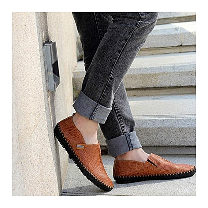 Fashion Fashion  Casual  Casual  Hand-made Breathable Soft Flat Oxfords Slip-Ons Loafers Shoes à prix pas cher  | Black Friday 2018 | Jumia Maroc 0b9fb8
