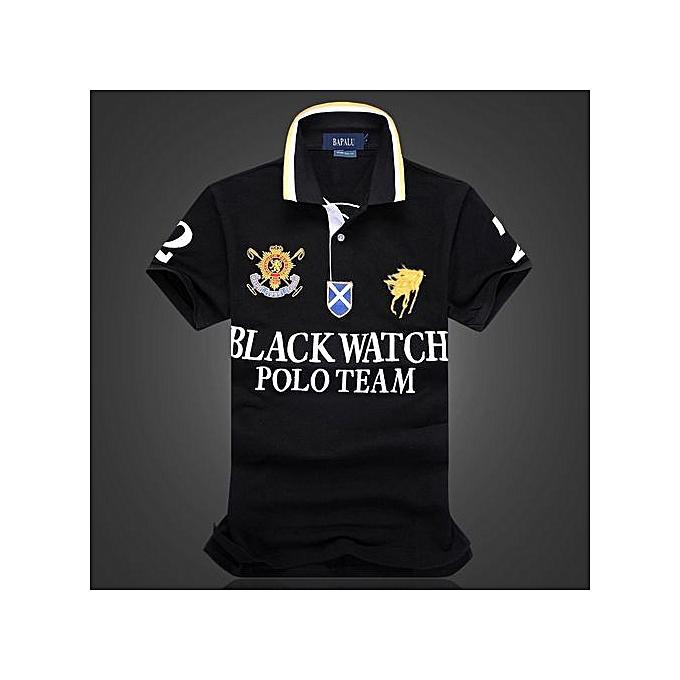 OEM hommes boutique embroidery breathable 100% cotton polo shirt lapel Men's Air Force One polo shirt-noir à prix pas cher