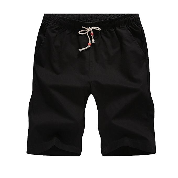 Other nouveau mode été Hommes& 039;s Thin Pants Loose Cotton Pants Sports plage Pants-noir à prix pas cher