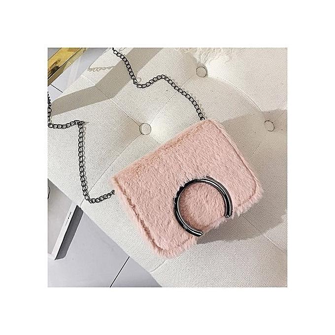 Siketu mode Able sac Handsac petit Messenger Shoulder sacs Phone Coin Plush sacs - rose à prix pas cher