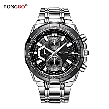 55ad3092289 Stainless Steel Band Sports Quartz Watches Dial Clock For Men Male Leisure  Watch Relogio Masculino