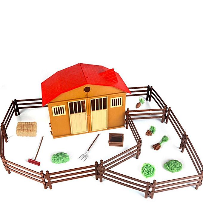 Autre Huilopker Sable Modèle De Scène De Ferme Ferme Maison Maison Jouet Enfants Intelligence Jouet Modèle à prix pas cher