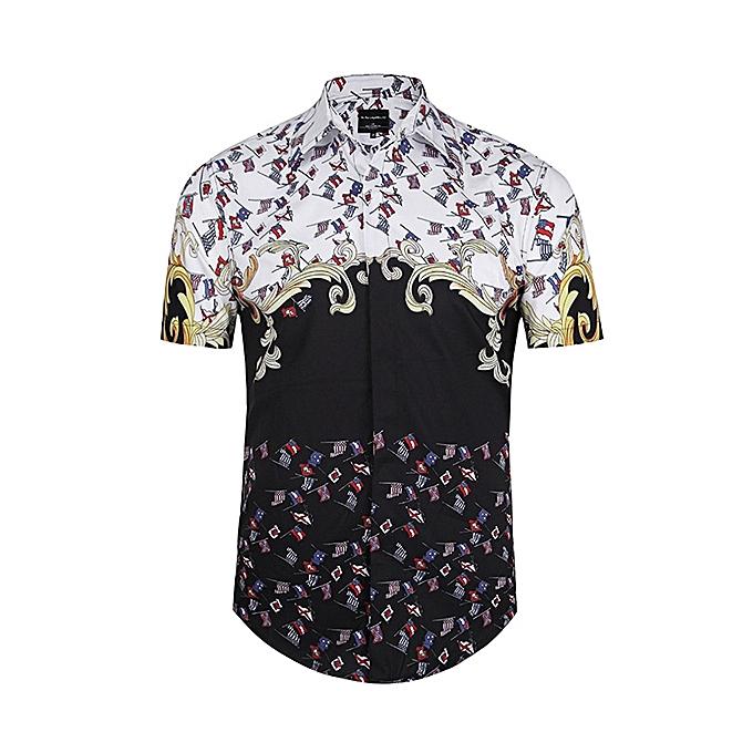 mode Pour des hommes été mode Décontracté 3D impression manche courte plage Shirt à prix pas cher