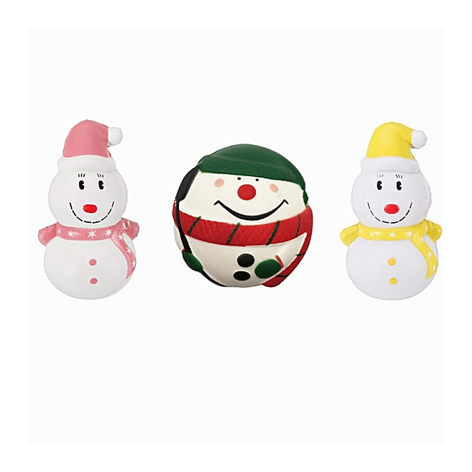 UNIVERSAL Three Christmas Snowhomme Squishy Gift SFaible Rising Toy With  Packing sac- à prix pas cher