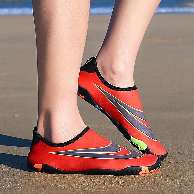 Fashion jiuhap store Couple Beach chaussures Swimming chaussures Water chaussures Barefoot Quick Dry Aqua chaussures à prix pas cher    Jumia Maroc