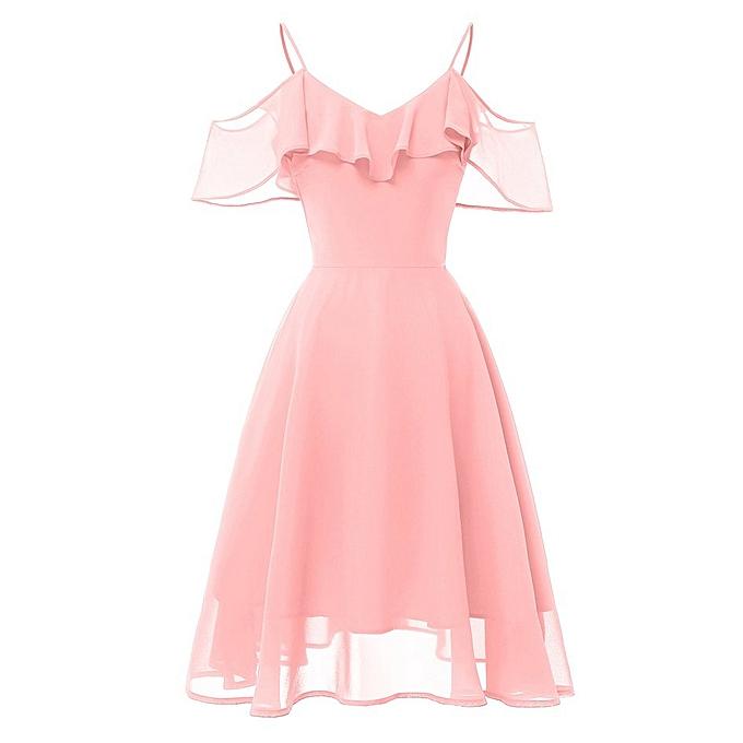 Generic TB Sleeveless three-layer gauze Robe lace-rose à prix pas cher