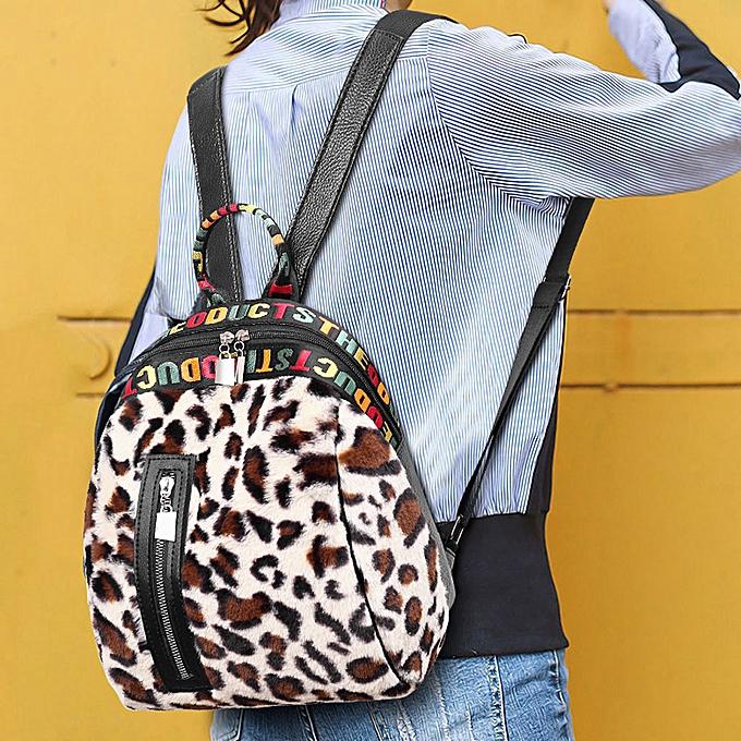 mode Singedan Shop femmes Corduroy Leopard Print School sac sac à dos Satchel voyage Shoulder sac à prix pas cher