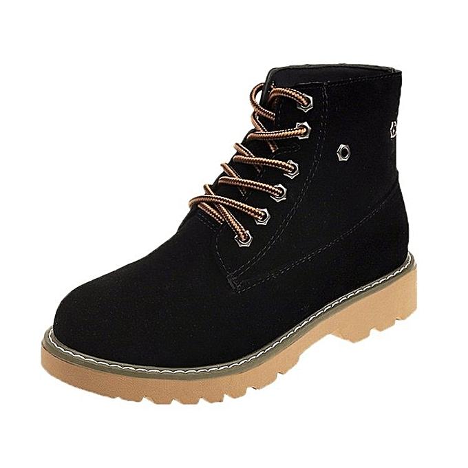 Autre Stylish Stylish Stylish WoHommes  thick-heeled Suede Waterproof Anti-slip Boots à prix pas cher  | Jumia Maroc 9b89d0