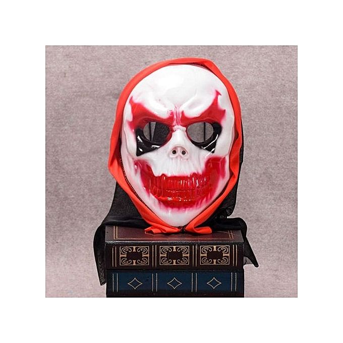 Generic Party Horror Devil Mask rouge Eyebrow Skull Head Tricky Spoof Prop Decor Toys à prix pas cher