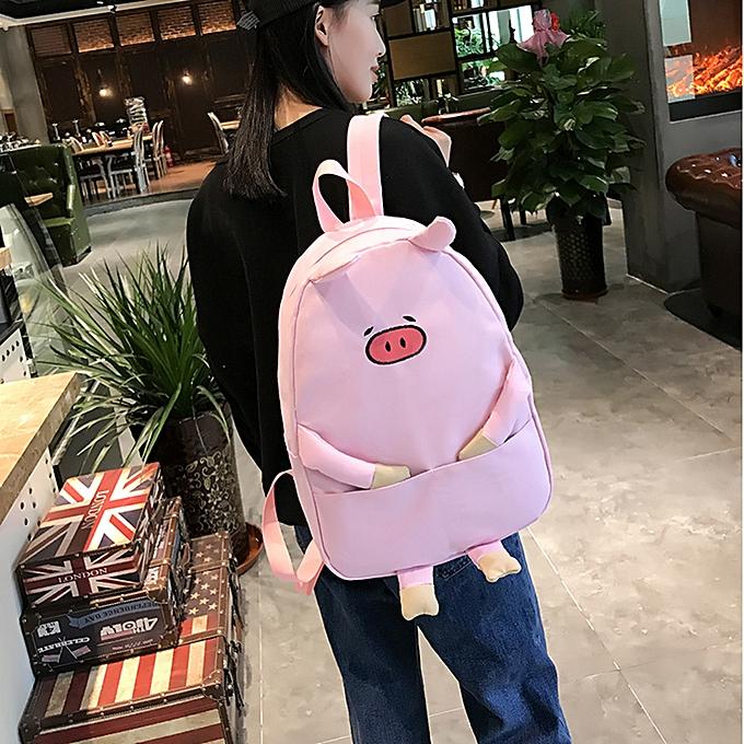 Generic Excellent femmes Girl toile Piggy Print Cute School sac voyage sac à dos sac à prix pas cher