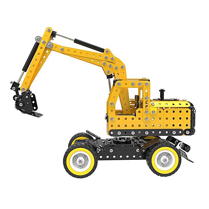OEM MoFun Excavator Car DIY 3D Metal Puzzle Model Building Stainless Steel Kit 502P à prix pas cher