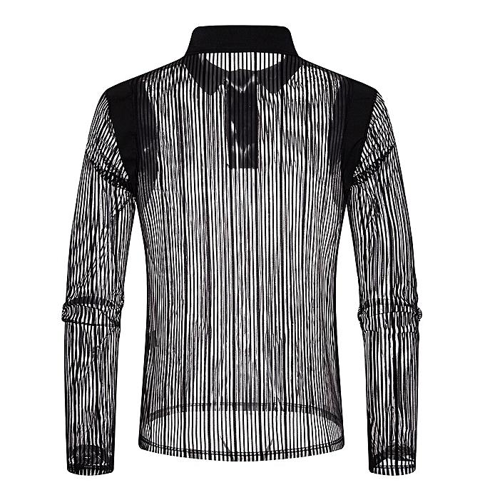 mode jiuhap store  Hommes& 039;s Autumn Décontracté engrener Shirts manche longue Shirt Poloshirt  Top chemisier à prix pas cher