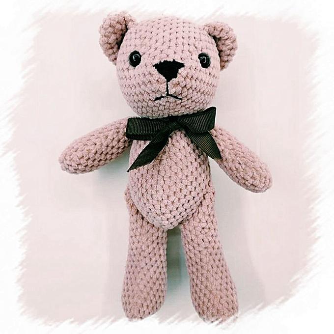 Autre 1Pcs Super Kawaii 20CM Joint Bowtie Teddy Bear Plush TOY DOLL ; Stuffed TOY Wedding Gift Bouquet Decor DOLL TOY(DRD) à prix pas cher