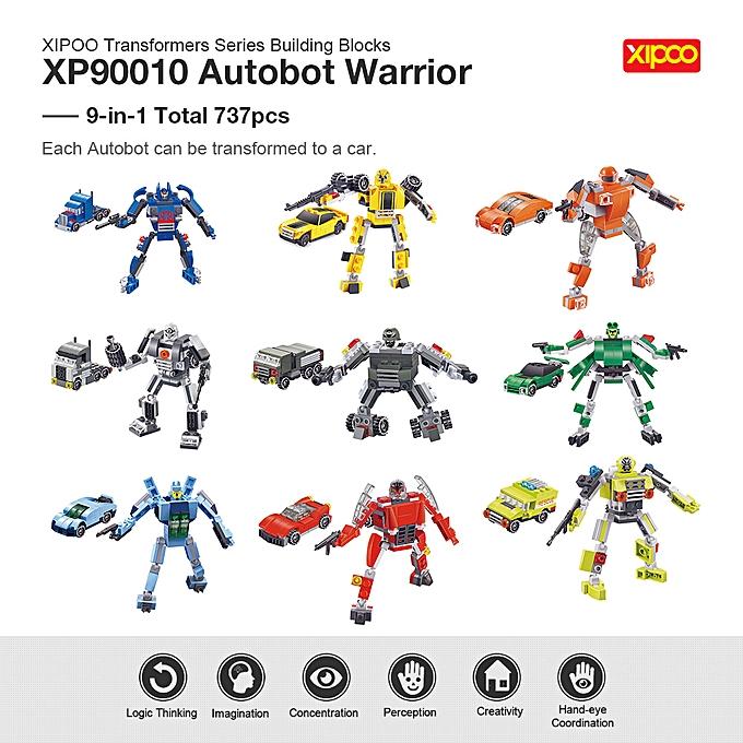 Autre 9-in-1 XIPOO Transformers Series 737pcs XP90010 Autobot Warrior Deform Car Building Block Kit Educational Toys à prix pas cher