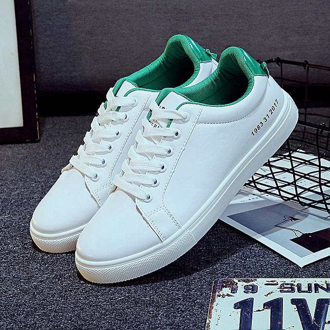 Fashion New hommes low-top chaussures casual chaussures blanc vert à prix pas cher    Jumia Maroc
