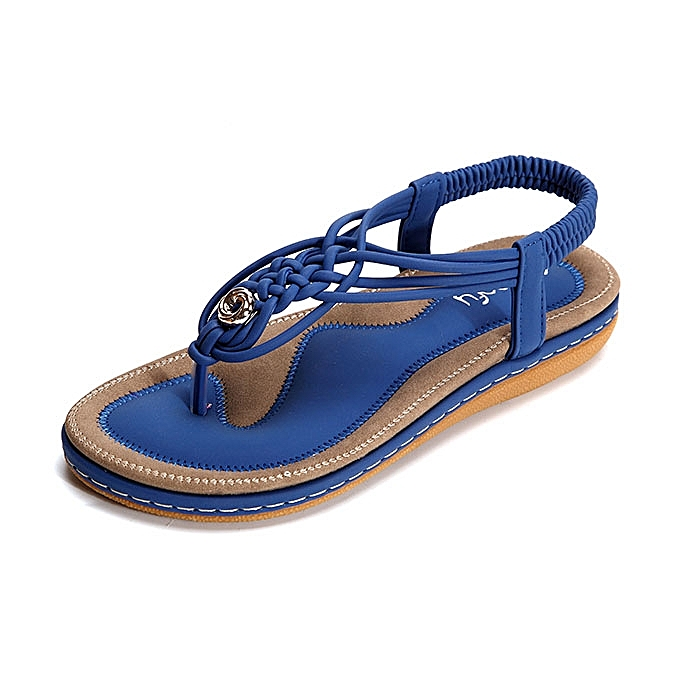 Fashion SOCOFY US Taille 5-13 femmes chaussures Knitted Casual Soft Sole Outdoor Beach Sandals à prix pas cher