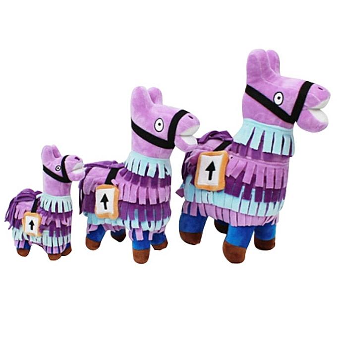 Autre 22 27 35cm Fortress Night Hot Game Plush Toy Troll Stash Llama Soft Alpaca  Horse Stash Stuffed Toys Enfants Birthday Gift(35cm) à prix pas cher