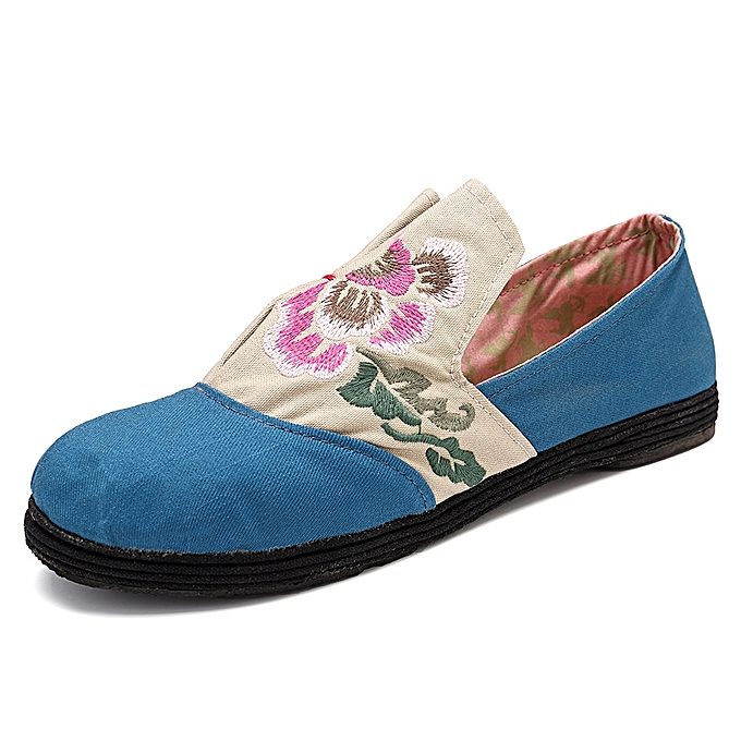 Fashion Folkways Floral Embroidery Slip On Flat Loafers chaussures à prix pas cher    Jumia Maroc