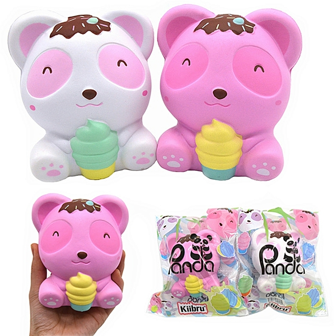 UNIVERSAL Kiibru Panda Squishy Bear Ice Cream 11.5cm Licensed SFaible Rising With Packaging Collection Gift Soft Toy-rose à prix pas cher