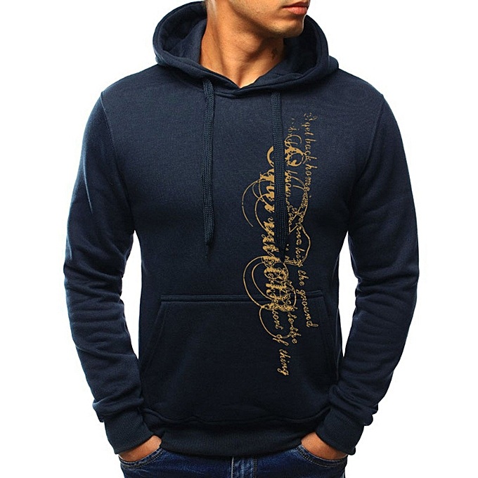 Fashion Men's Long Sleeve Autumn Winter Casual Sweatshirt Hoodies Top Blouse Tracksuits -Army vert à prix pas cher