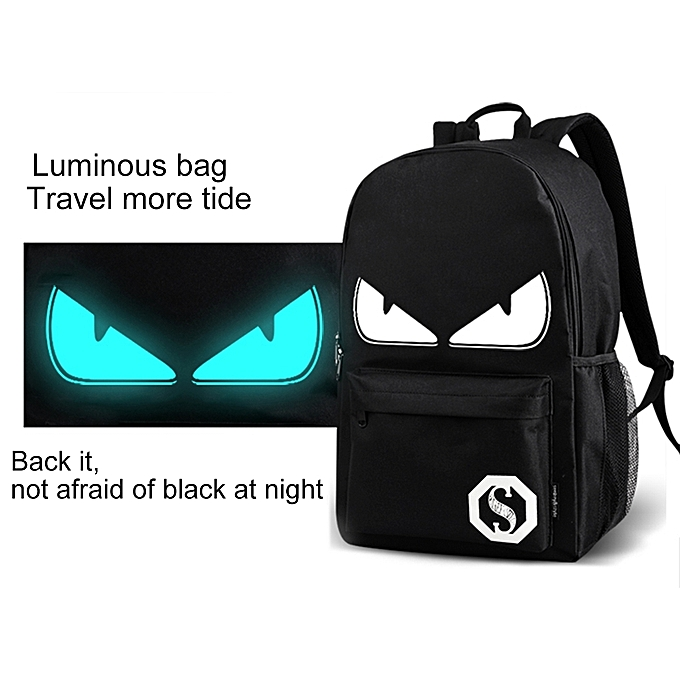 UNIVERSAL Multi-Function Large Capacity Oxford Cloth Demon Luminous Backpack Casual Laptop Computer Bag with External USB Charging Interface for Men   femmes   Student, L, Taille  482917cm à prix pas cher