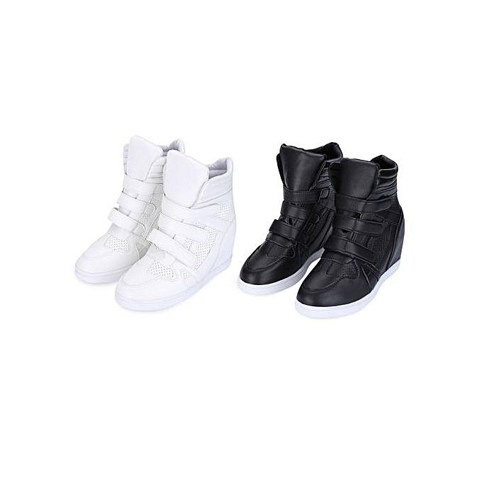 Fashion High-top Heavy Bottom Skidproof Pure Color Color Pure WoHommes  Platform Shoes à prix pas cher  | Jumia Maroc 26b664