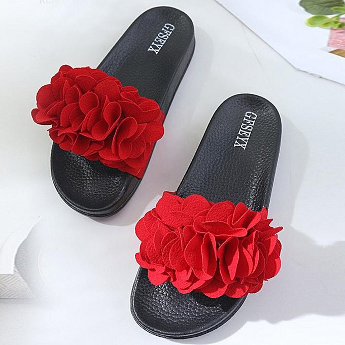 Fashion Hiamok femmes Slipper Summer Flower Slipper Fashion Casual Home Slippers Beach chaussures à prix pas cher    Jumia Maroc