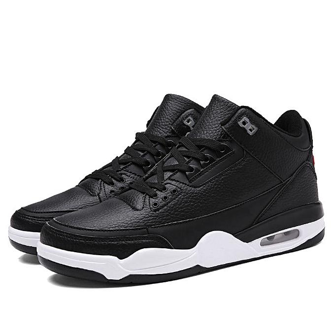 Fashion Men Basketball chaussures High Top Hook Loop Running Sport baskets Shock Absorbing à prix pas cher