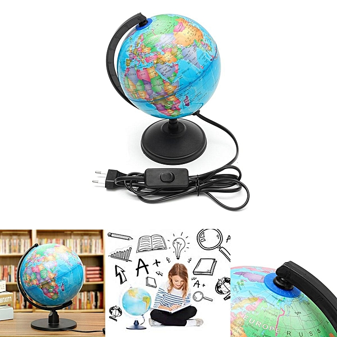 UNIVERSAL World Earth Globe Atlas Map Geography Education Gift w  rougeating Stand LED lumière à prix pas cher