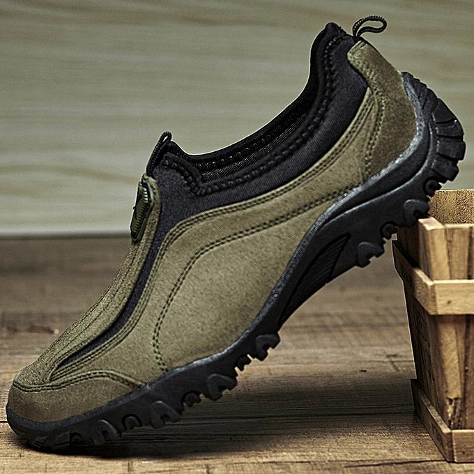 Fashion Hiamok Classic Men's  Mountaineering Outdoor  Wrm Plus Velvet  Low To Help Hiking chaussures à prix pas cher    Jumia Maroc
