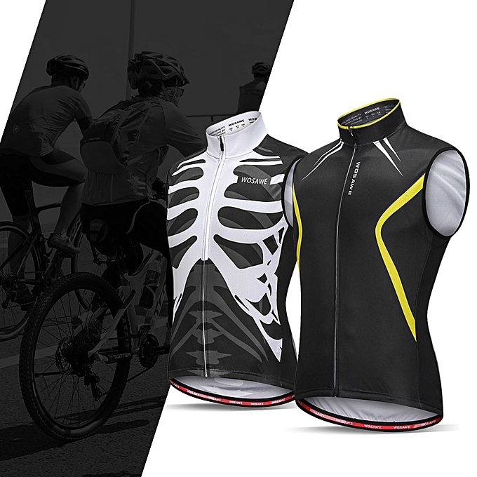 Other Wosawe Sleeveless Cycling Vest Jersey Breathable MTB Bike Riding Top Sports Jacket for Men and femmes à prix pas cher
