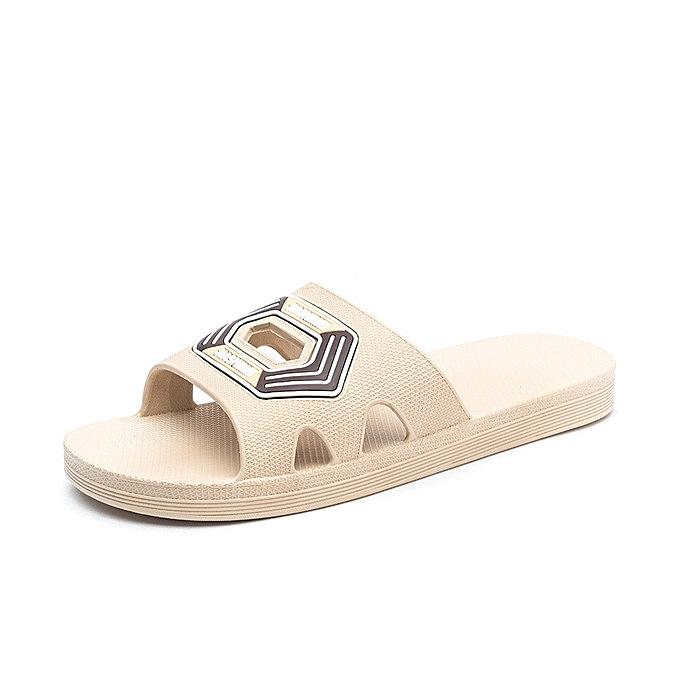 OEM nouveau style Hommes été Slippers de plein air plage Sandals Flip Flop Slip On mode Slippers Décontracté Flat Slides-khaki à prix pas cher