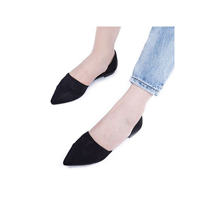 Fashion Stylish Pure Color Pointed Toe Shollow Mouth Ldies Flat Flat Ldies Shoes à prix pas cher  | Jumia Maroc 9072a7