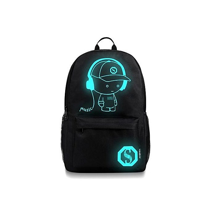 Fashion Correponde Unisex Light Preppy Teenagers Noctilucent Cartoon School Bags Student Backpack à prix pas cher