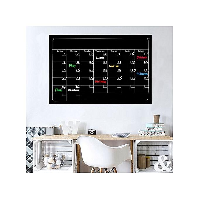 Generic Trend Dry Erase Board noirboard Month Magnetic Calendar Chalkboard Wall Sticker à prix pas cher