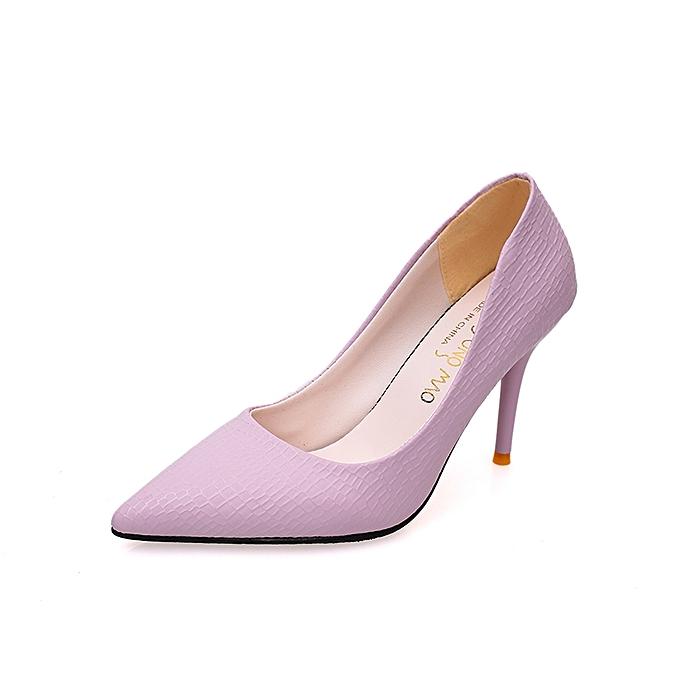 Fashion 9.5cm High Thin Heel Stiletto femmes Shallow Pumps -violet à prix pas cher    Jumia Maroc