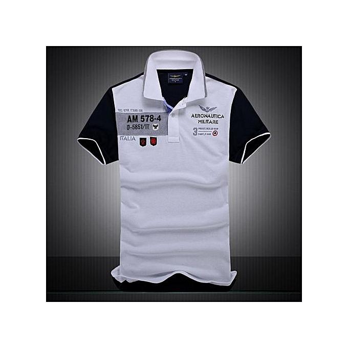 Generic nouveau Cotton AERONAUTICA MILITARE Air Force One polo shirt Embroidery Aeronautica Hommes Military polo shirt-whcravate à prix pas cher